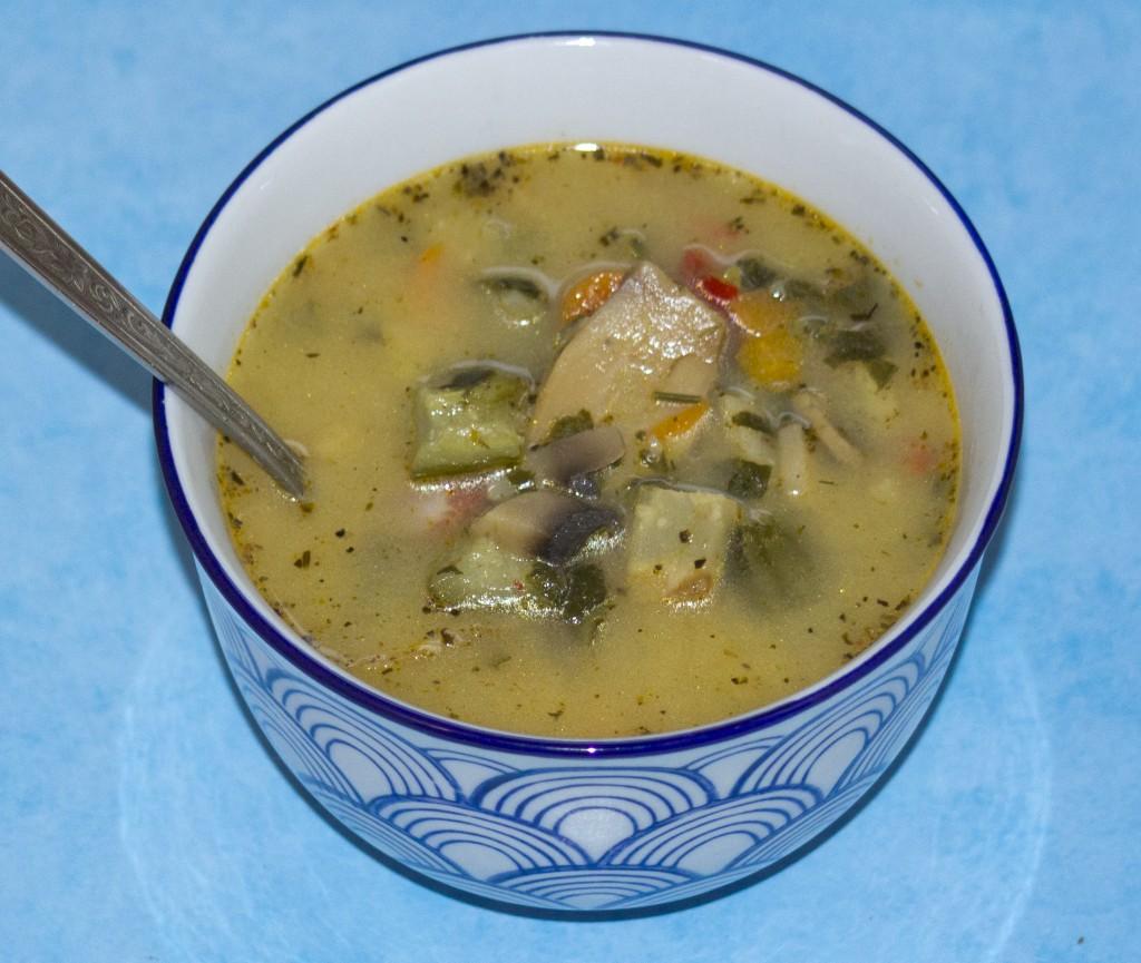 zupa z papryka i szpinakiem